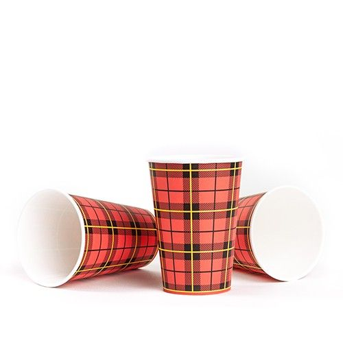 Schotse Ruit-lijn Koffiebekers