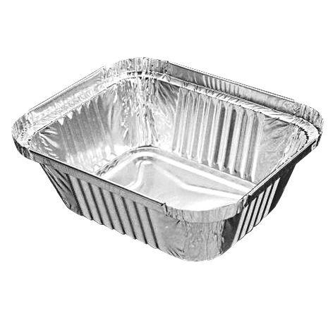 rechthoekige bakjes aluminium