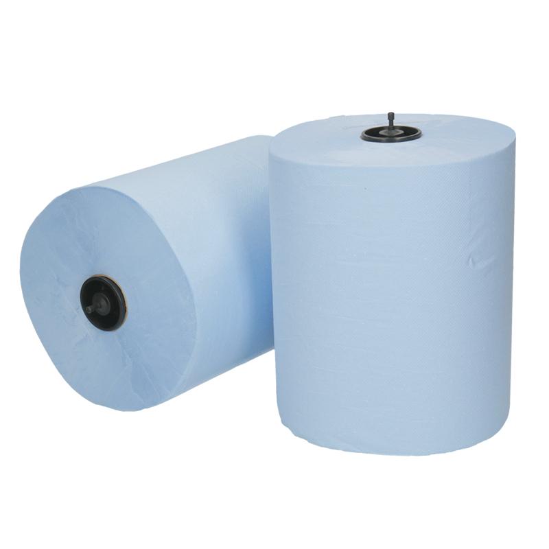 Afbeelding van Handdoekrol Matic 21cm 150m 2 laags blauw