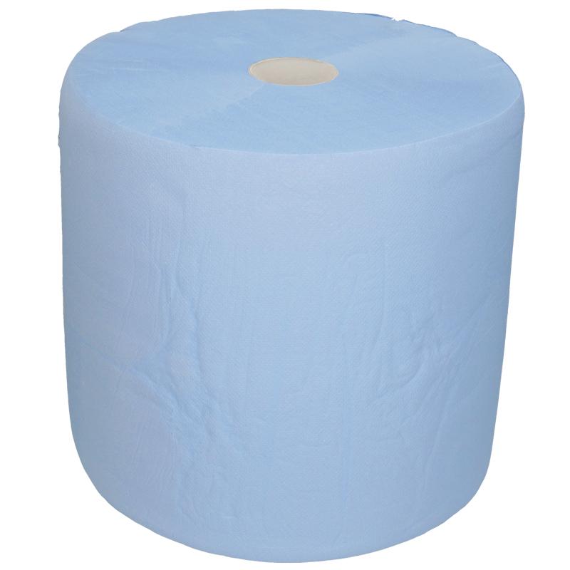 Afbeelding van Industrie uierpapier zwaar 36cm x 380m 3 laags blauw