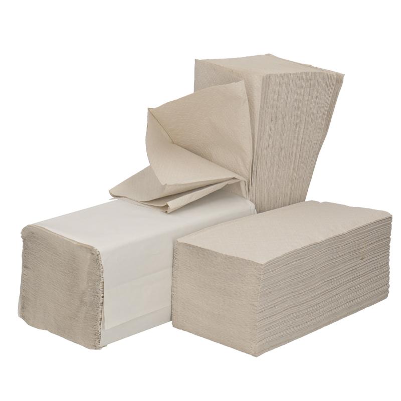 Afbeelding van Handdoeken ZZ vouw 1 laags 23x25cm Grijs