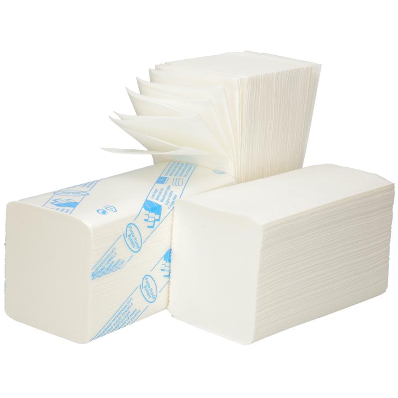 Afbeelding van Handdoeken Interfold 2 laags extra lang 42x22cm Hoogwit