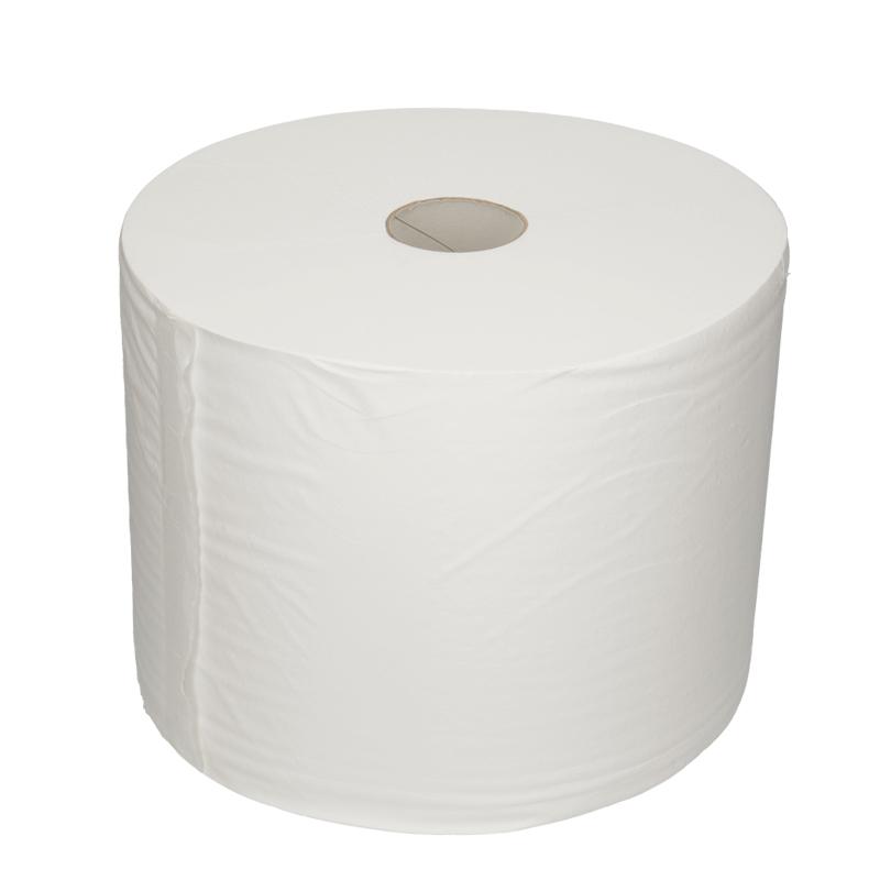 Afbeelding van Industrie poetsrol zwaar cellulose 27cm x 1000m 1 laags wit