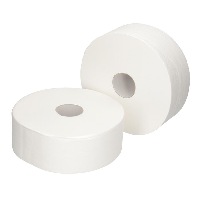 Afbeelding van Toiletpapier jumbo 2 laags wit 380m