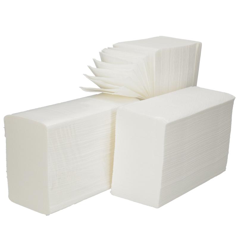Afbeelding van Handdoeken Interfold 3 laags extra lang 42x22cm Hoogwit