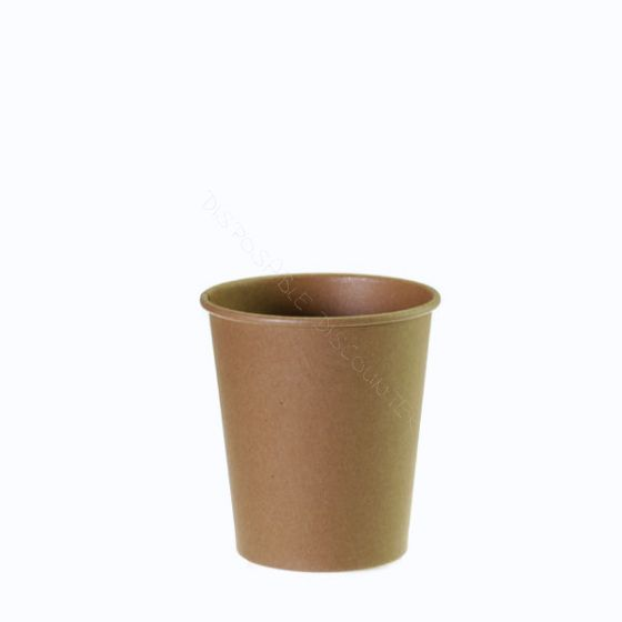 Coffee to go beker 73mm 177cc 6.5oz bruin