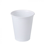 Koffiebeker plastic 150cc wit