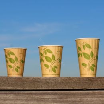 BIO Koffiebeker dubbelwandig 12oz 350ml Leaf