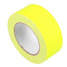 Markeringstape Duct Cloth Neon Gaffer 50mm x 25m geel