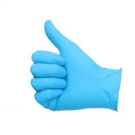 Handschoenen nitril ongepoederd blauw L