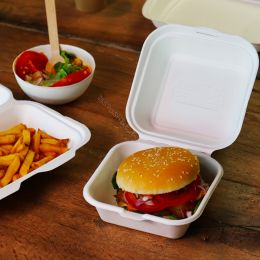 BIO Suikerriet Hamburger Box Wit