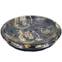 Sushi Tray Flowers + deksel 32cm rond