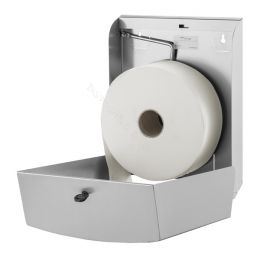 Toiletrolhouder Dispenser Wings voor Jumbo rollen RVS