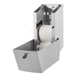 Toiletrolhouder Dispenser Wings voor 2 Traditionele Rollen RVS