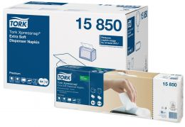 Tork Xpressnap® Extra Soft White Dispenser Napkin N4 15850