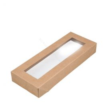 Deksel karton met venster voor 225x85mm Viking Slim Brick bruin FSC