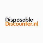 Handschoenen gepoederd vinyl blauw M