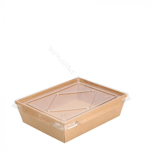 Kartonnen Food Tray + Deksel 900ml 174x134x48mm