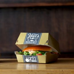 BIO Kartonnen Hamburger Bakje Groot Fresh & Tasty