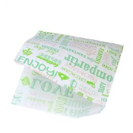 Hamburger zakje papier Parole 17x18cm