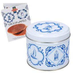 Stroopwafels in Delfts Blauw Cadeaublik