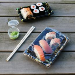 Sushi Tray Flowers + deksel 220x90x22mm