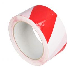 Vloermarkeringstape 50mm x 33m rood/wit