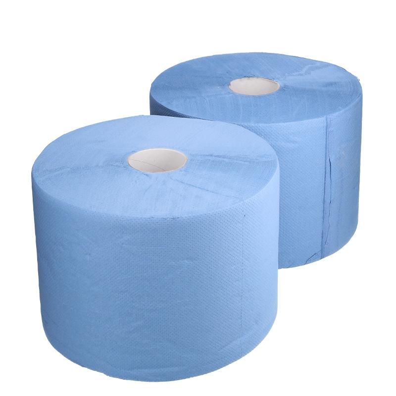 Afbeelding van Industrie uierpapier zwaar 22cm x 360m 2 laags blauw