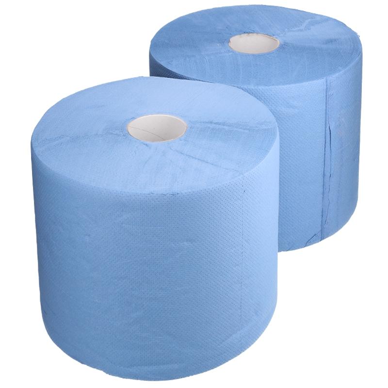 Afbeelding van Industrie uierpapier zwaar 37cm x 360m 2 laags blauw