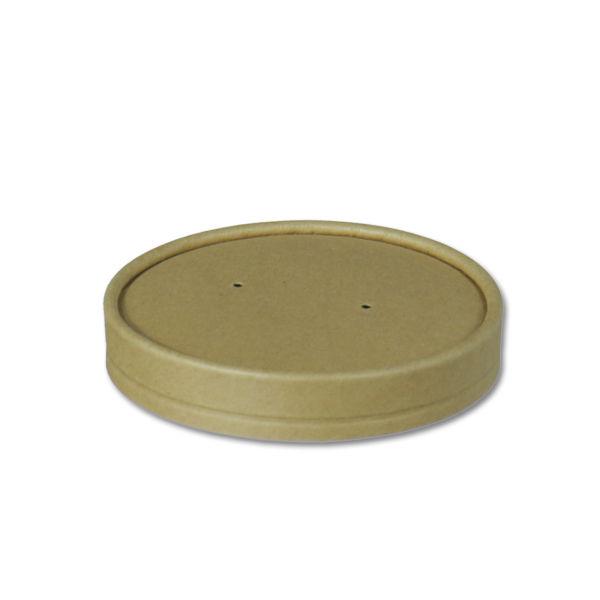 Afbeelding van BIO Nature Kraft deksel voor Soup to go beker 300ml bruin