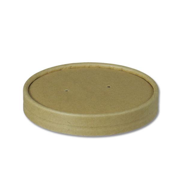 Afbeelding van BIO Nature Kraft deksel voor Soup to go beker 437ml bruin