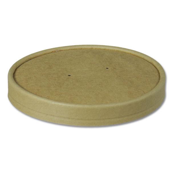 Afbeelding van BIO Nature Kraft deksel voor Soup to go beker 600ml bruin