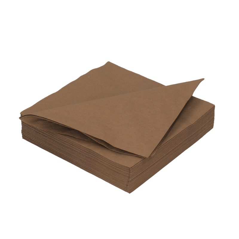 Afbeelding van DiDi Tissue servet 33cm 2 laags bruin