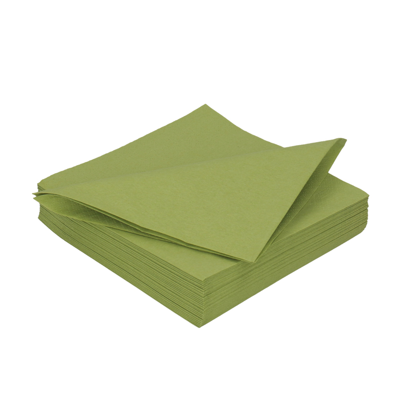 Afbeelding van DiDi Tissue servet 33cm 2 laags Blad Groen