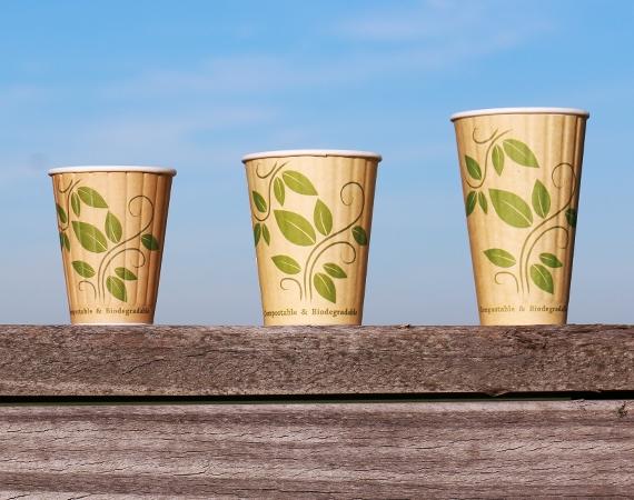 Dubbelwandige BIO koffiebekers met Kraft Look!