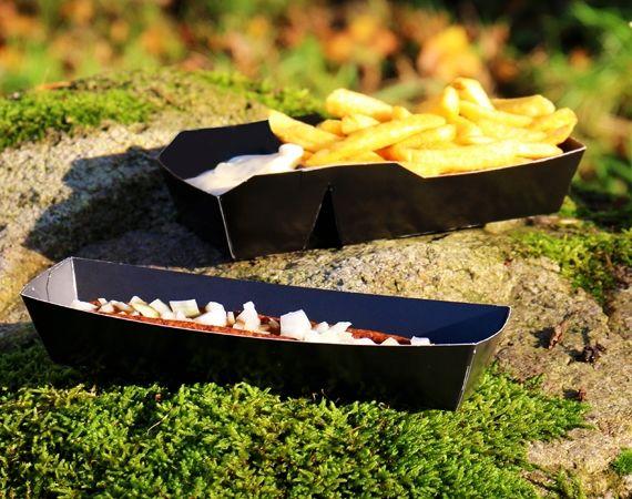 Nieuw: BIO Frietbakjes met zwarte Binnen & Buitenkant!